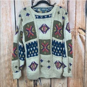 Woolrich Heavy Chunky Printed Sweater
